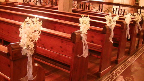 Orchids Church Pews