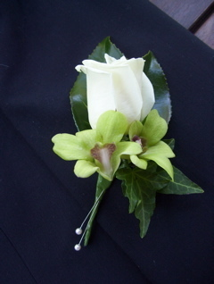 Rose and Orchid Buttonhole