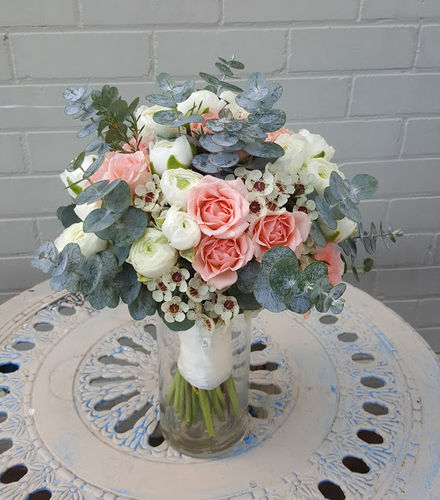 European Style Wedding Bouquet with a Seasonal Flowers