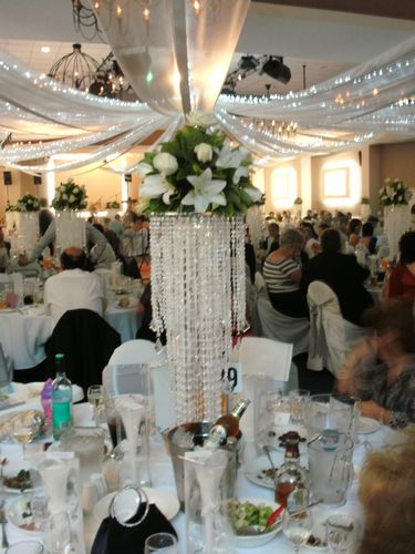 Crystal Centrepiece with Flowers