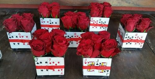 Casino Theme Flower Arrangements