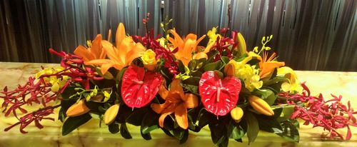 Colourful Long & Low Arrangement